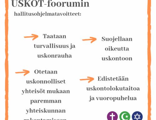 USKOT-foorumin hallitusohjelmatavoitteet