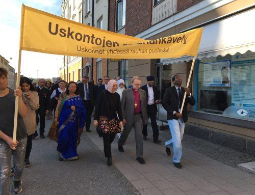 Uskontojen rauhankävely Helsingissä 24.10.2019