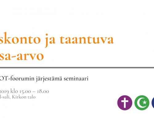 USKOT-foorumin seminaari: Uskonto ja taantuva tasa-arvo 26.11.2019