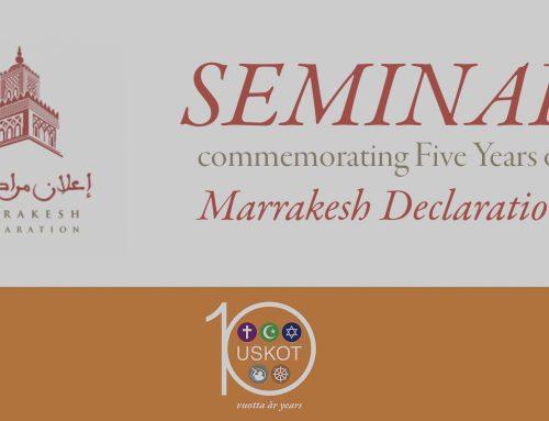 Marrakeshin julistuksen viisivuotisseminaarissa käsitellään uskonnonvapautta ja uskontojen yhteistyötä