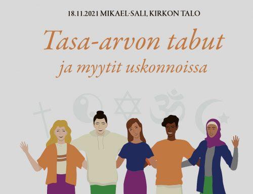 Tasa-arvon tabut ja myytit uskonnoissa -seminaarissa murretaan stereotypioita
